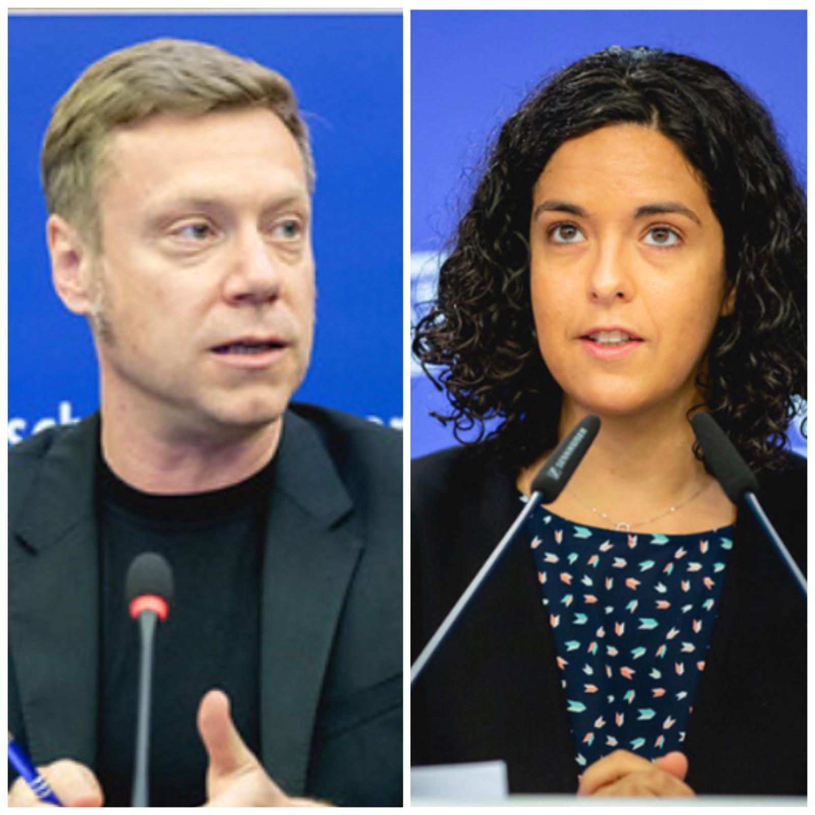 Manon Aubry and Martin Schirdewan